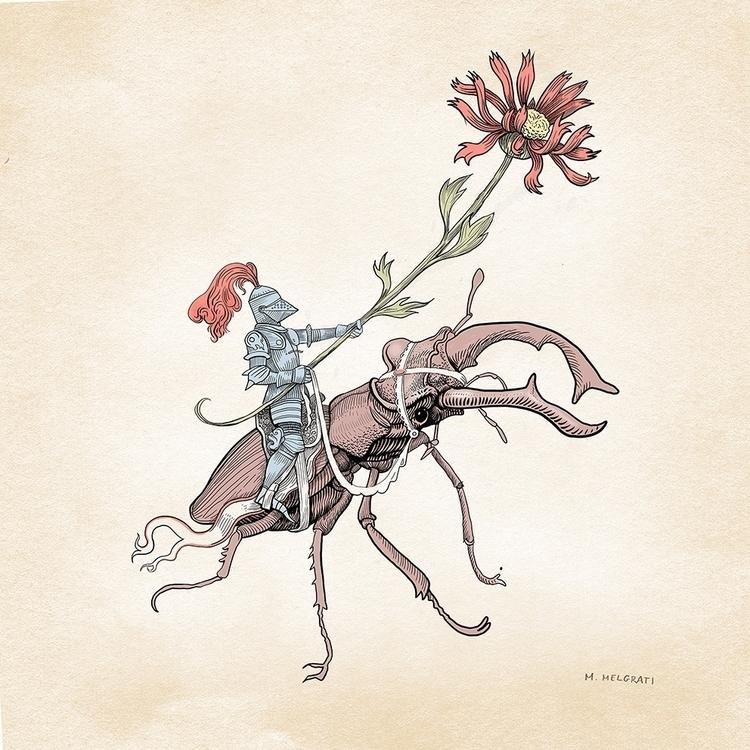 Gentle Knight gentle flower lov - marcomelgrati | ello