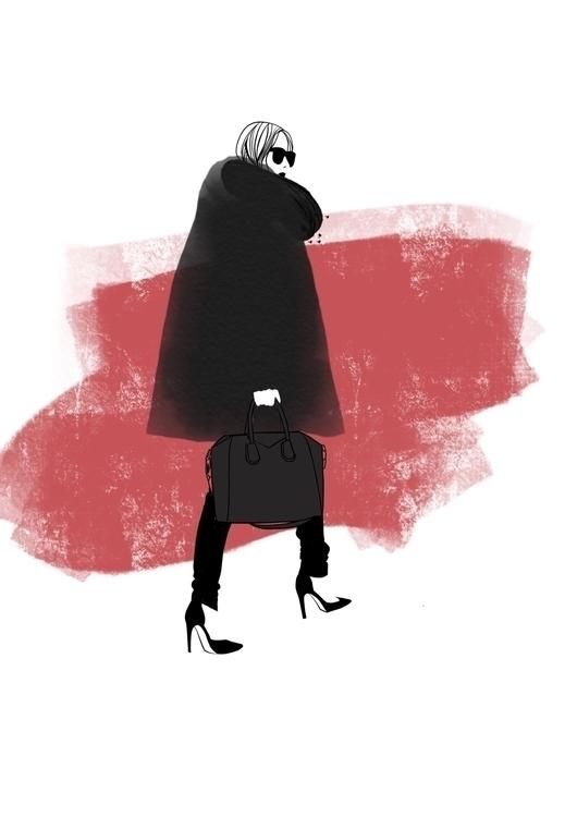 Fashion sketch Rocio Vigne art  - rociovigne   ello