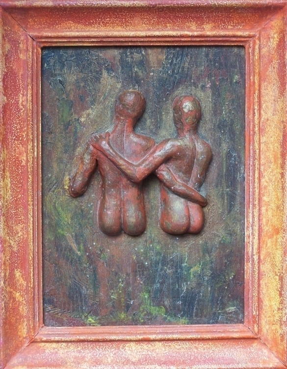 Relief 1 Acrylic Wood 25 cm 20  - loic-le-phoque-fringant | ello
