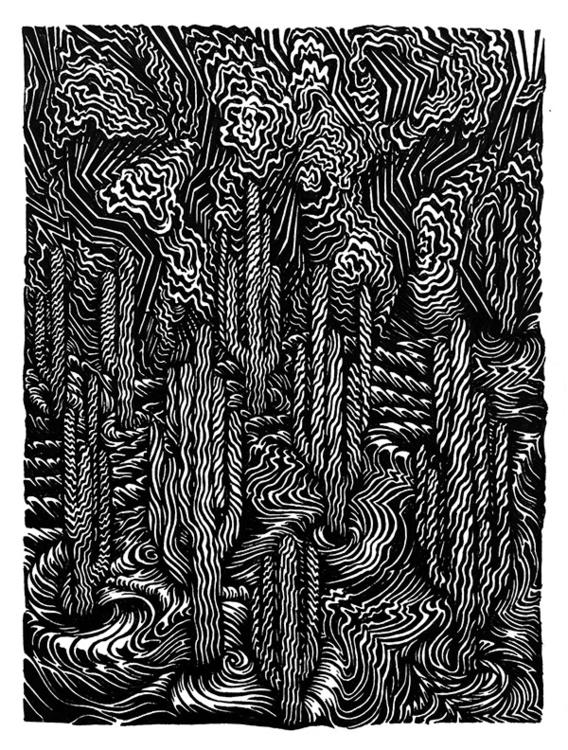 Saguaro 1, ink paper, 29,7 42cm - jaimeraposo | ello