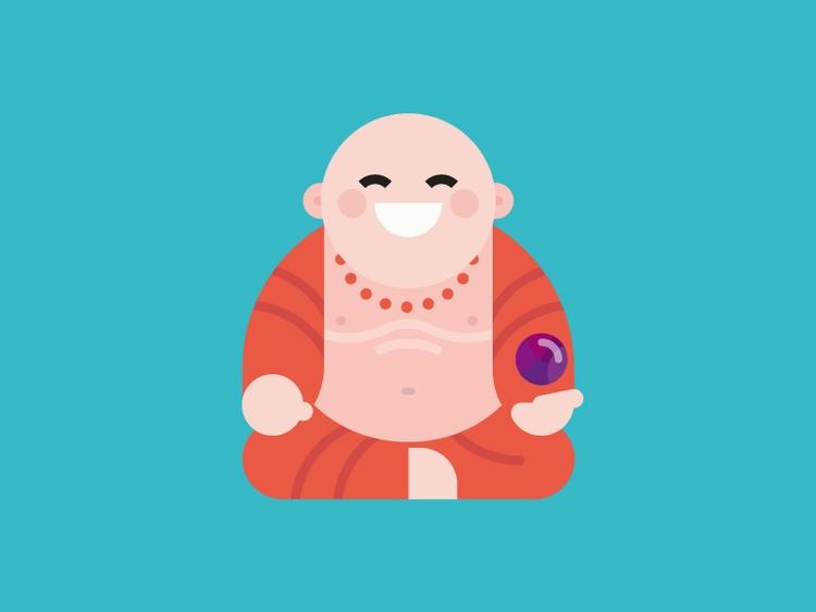 Laughing Buddha :D illustration - dannygreaves | ello