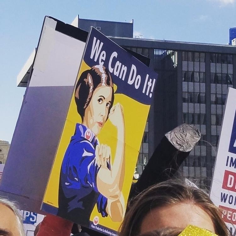 Princess Leia protester mascot  - bonniegrrl   ello