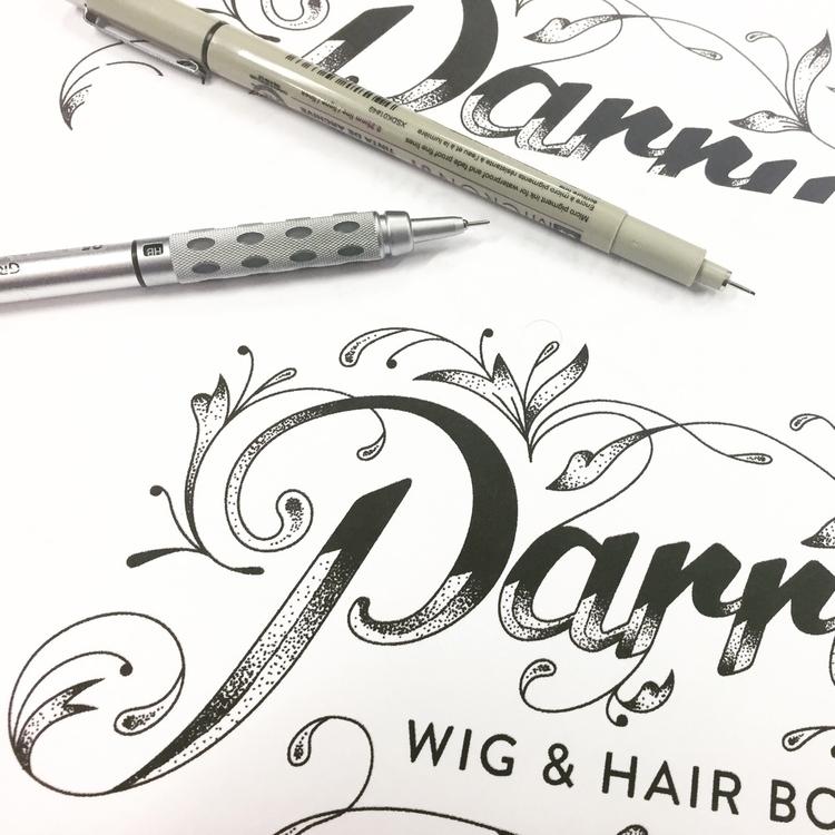 WIP - Lettering identity 'Wig & - craig-black | ello