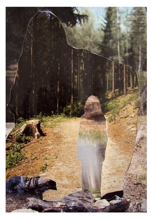 somedays walk woods collage han - ninacfraser | ello