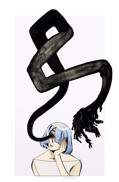 horror art illustration - sjmillerart | ello