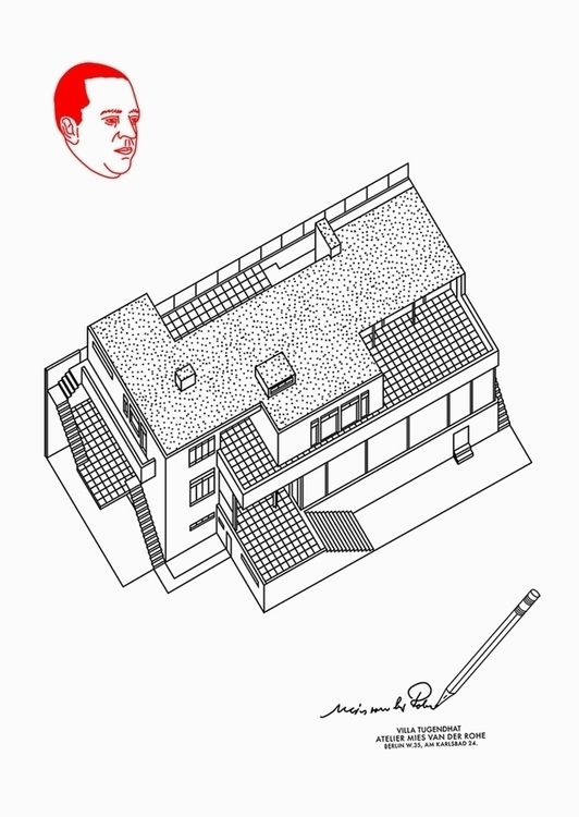 Villa Tugendhat. Author: Kristi - poster44 | ello