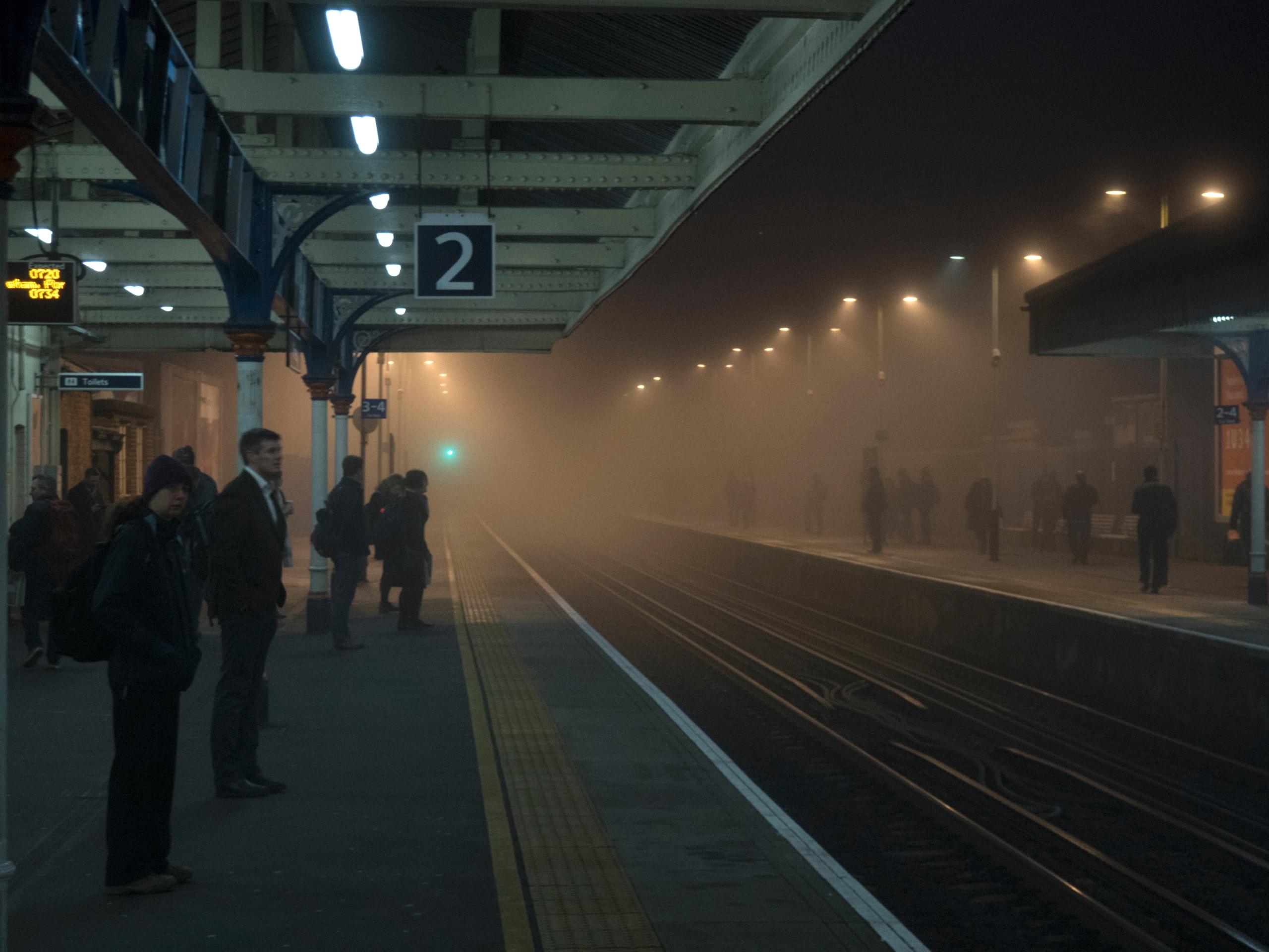 *Foggy Platform* The dense fog  - neilhoward | ello