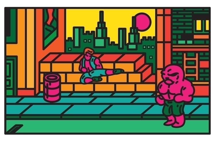 A piece based Double Dragon com - scott_balmer | ello