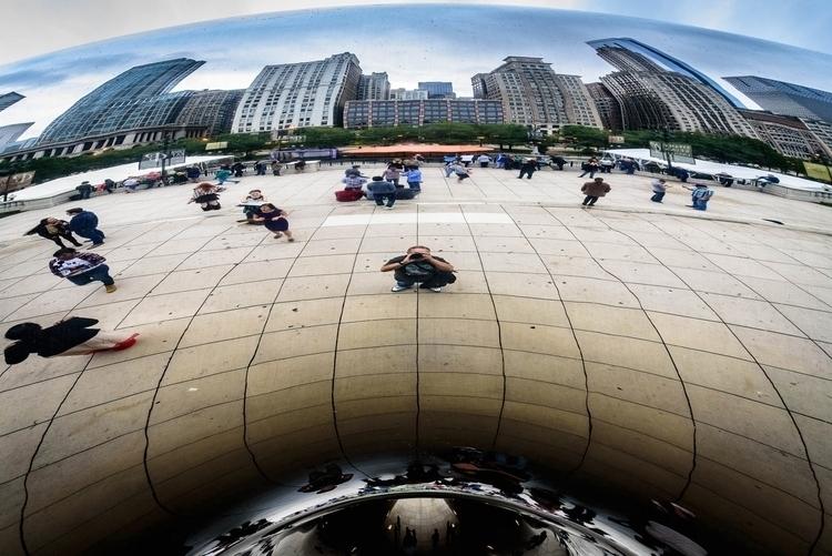 Self portrait Cloud Gate Chicag - sharkypics   ello