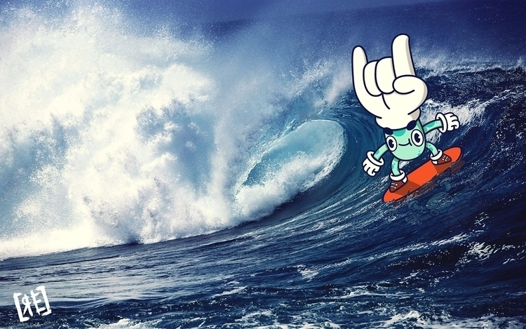 Rocker surfer illustration art  - redaelmraki | ello