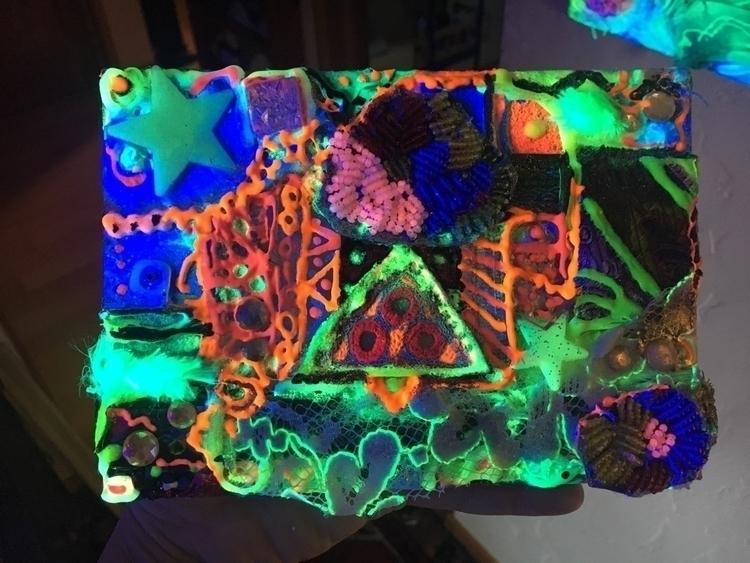 small collage UV reactive - heartsparkart | ello