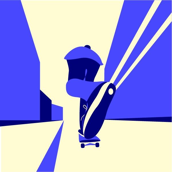 May 2017 bring happiness skater - gunimation | ello