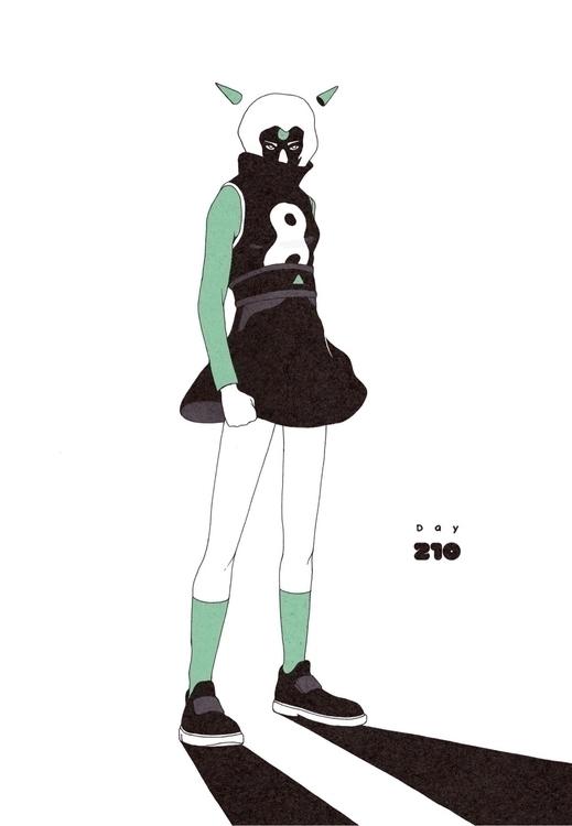 Day 210/365: The Green Eyed Mon - 1sles | ello