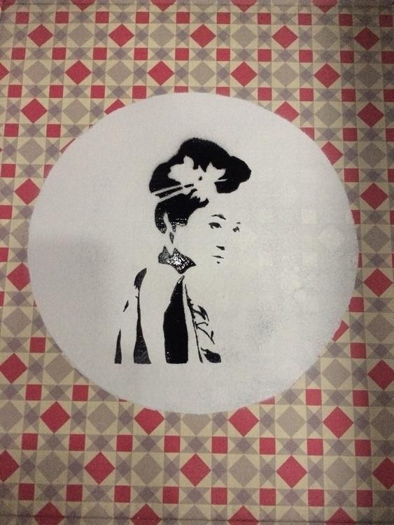 JAPAN GIRL Stencilart paper liz - liz_art_berlin | ello