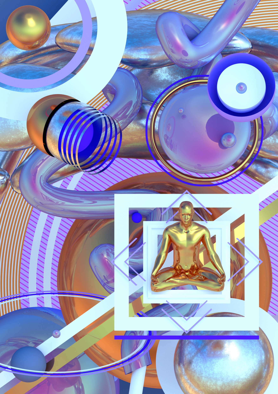 reflections 3D / abstract art d - ikiste | ello