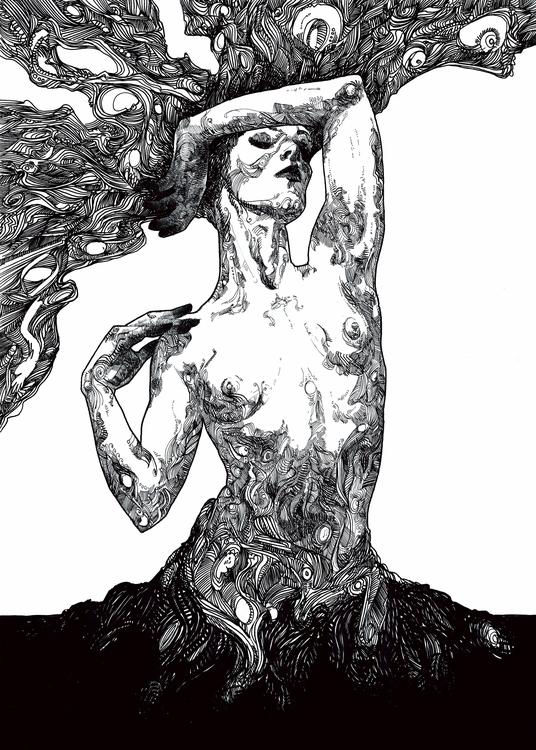 BLACK DREAMS: AWAKENING, 50x70c - emil_underbjerg | ello