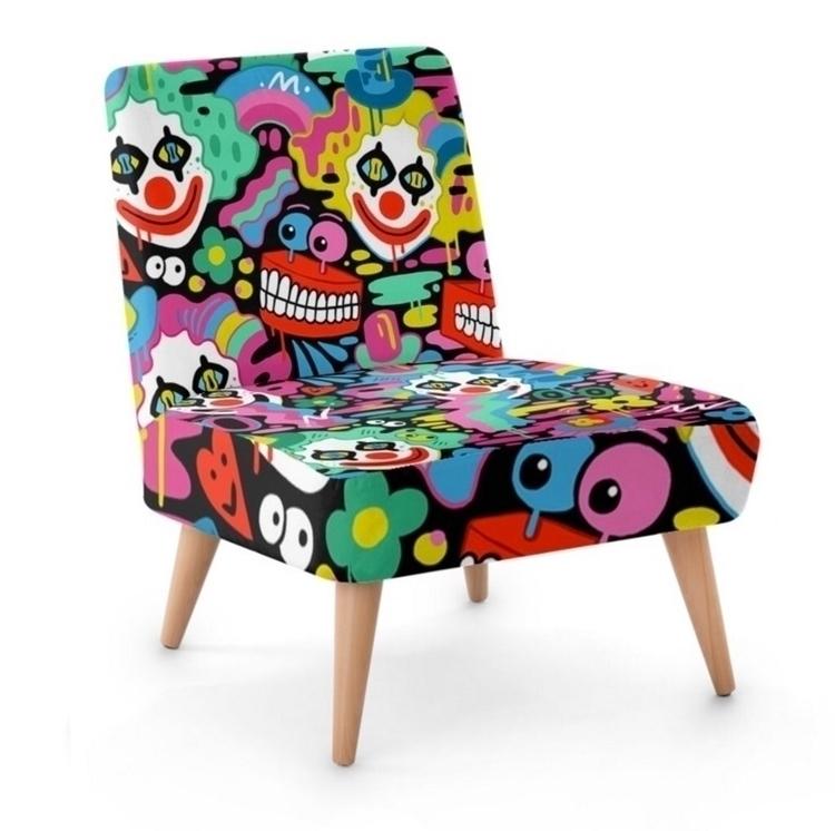 Clown Chair! 🤡 home decor art d - ms_wearer | ello
