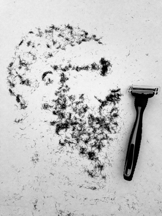 Portrait created human hair (ra - benjaminzayasgallery | ello