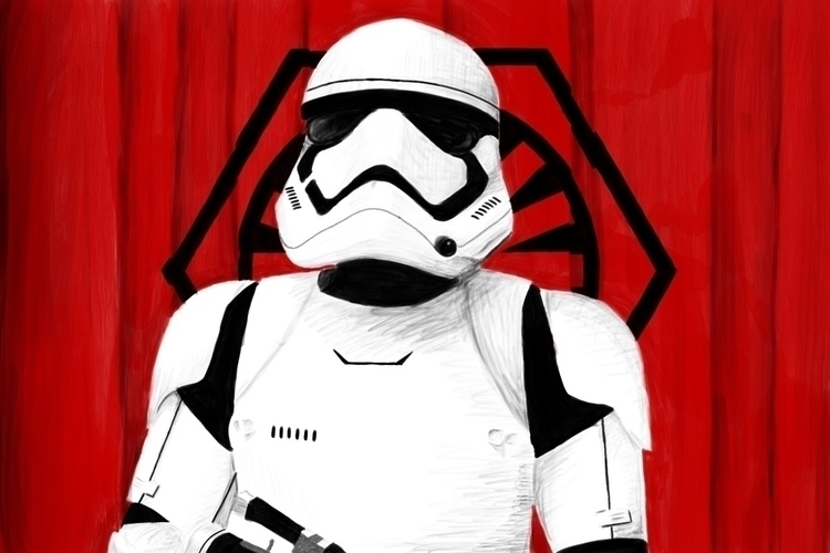 Storm Trooper, drawn iPad Pro - leggedesign | ello