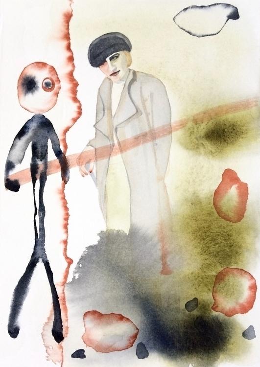 watercolor art paynesgrey olive - vasagatan | ello