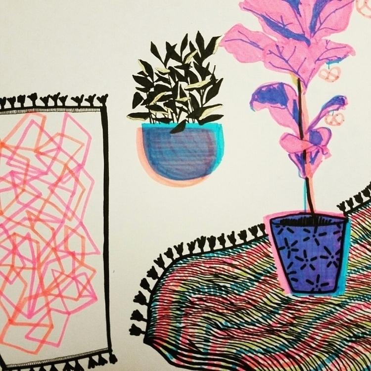 Dreaming interiors illustration - _hellsea | ello
