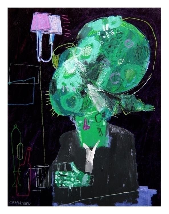 Drinker. 100x70cm, 2014. art he - carpmatthew | ello