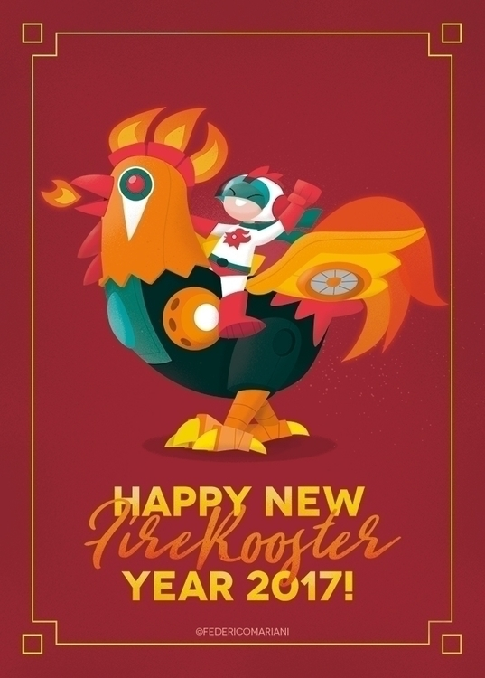 Happy FireRooster year! 🎆🎇🎊🏮🎉🥂  - federicomariani | ello