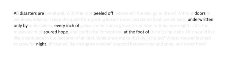 disasters erasure poem)` peeled - mattlaff | ello