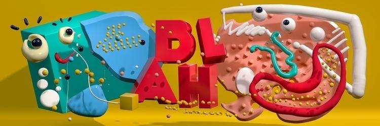 BLAH HURTS polygons digitalcanv - ateliermartini   ello