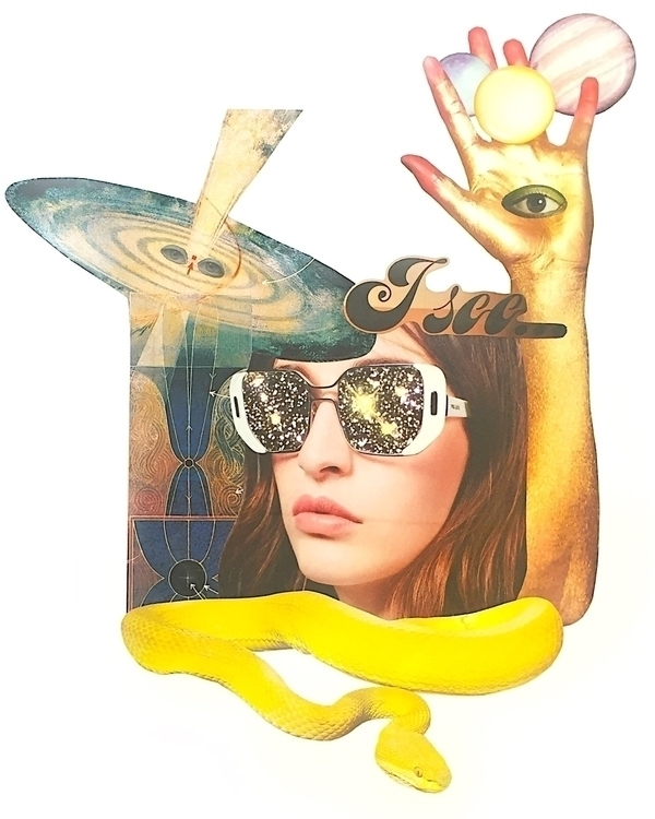 """Vision"" collage Bonnie Currie  - arcanememory | ello"