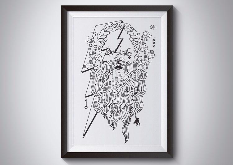 Zeus vectorillustration persona - jaumea | ello