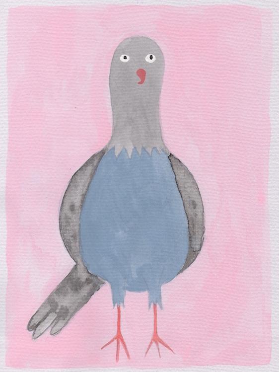 drawing painting funny pigeons. - petatron | ello