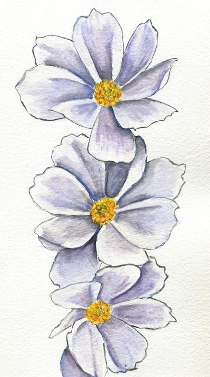 Empty Cosmos Watercolor, Gouach - havekat | ello