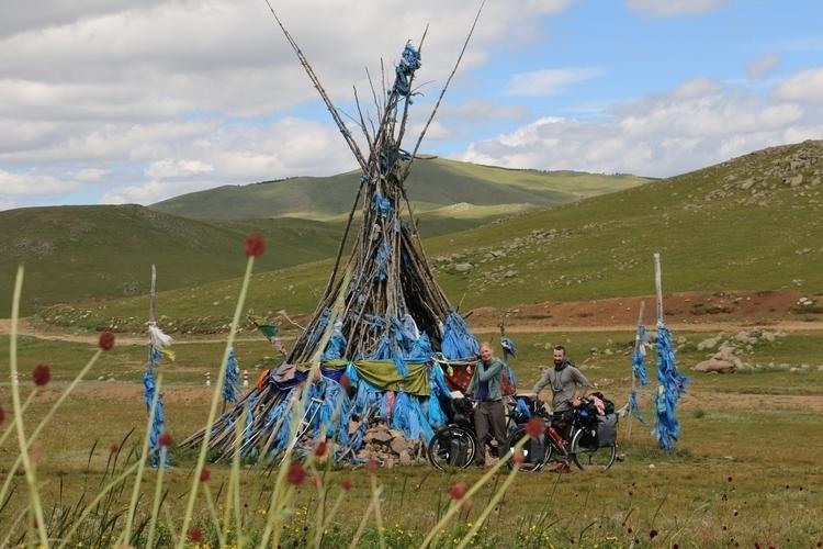 Traditional Ovoo shrine Mongoli - crankandcog | ello