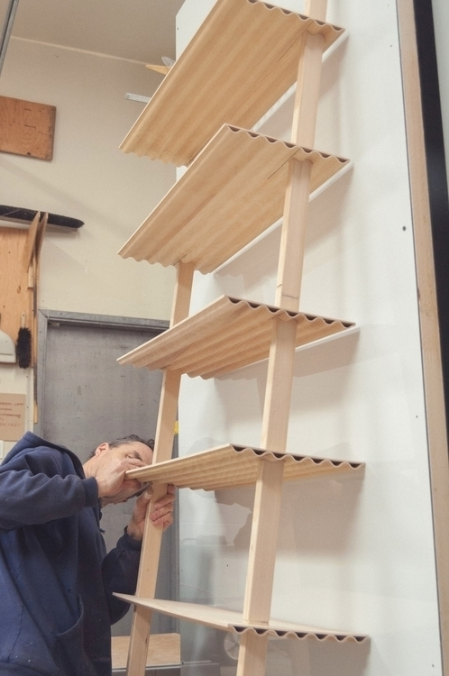 leaning shelf form productdesig - studiocorelam | ello