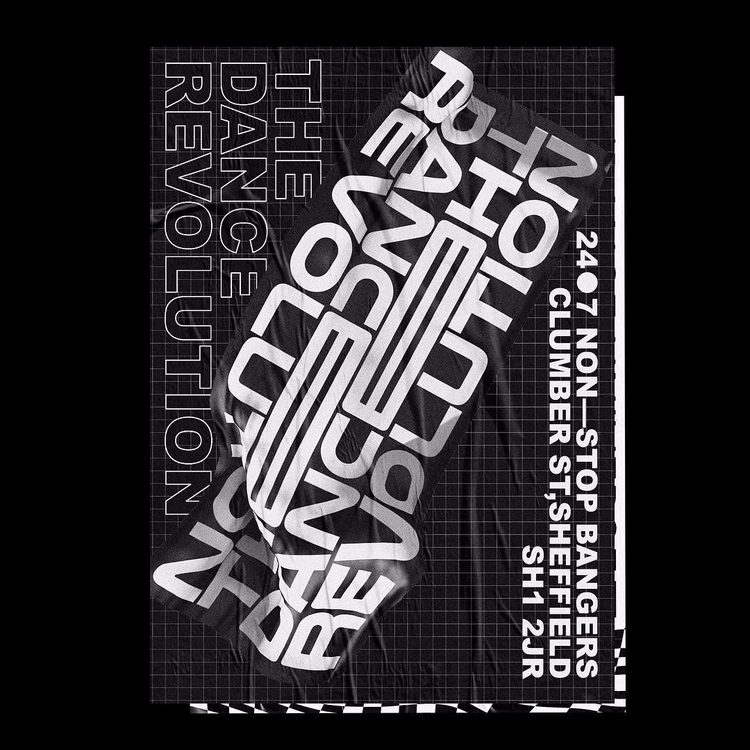 Rave Poster V2 poster design el - sam_hall | ello
