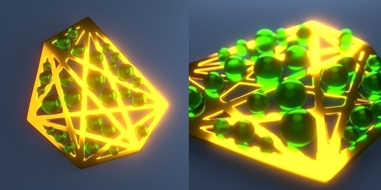 Amulet Emerald 3d blender3d fan - fabulousrice | ello