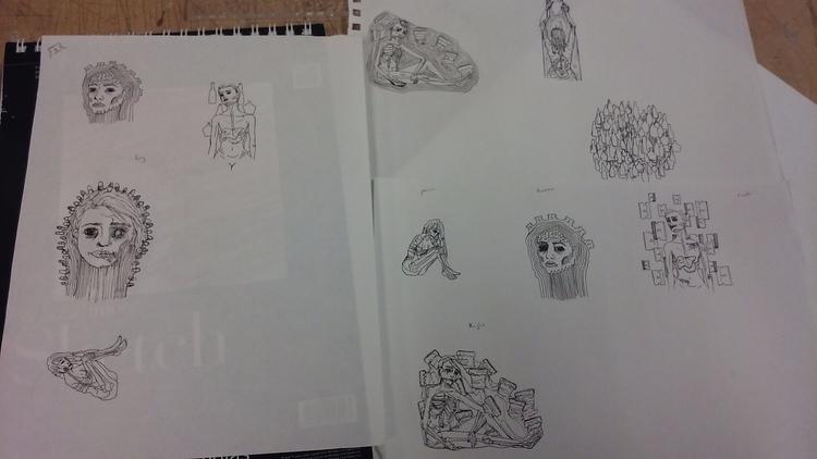 Revised final sketches pieces.  - skbonner   ello