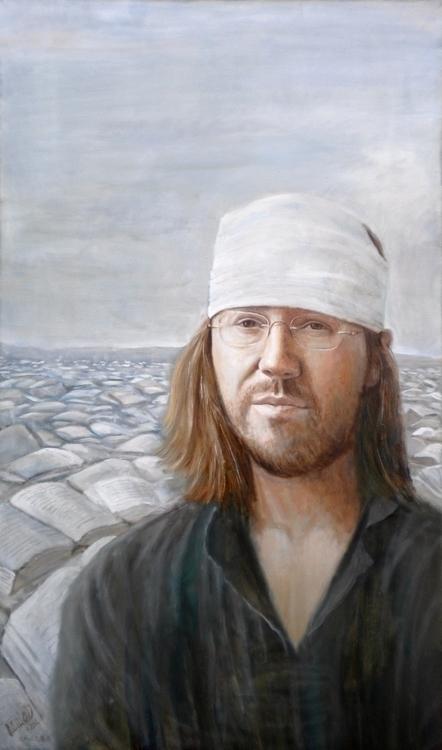 portrait David Foster Wallace.  - paolobeneforti | ello