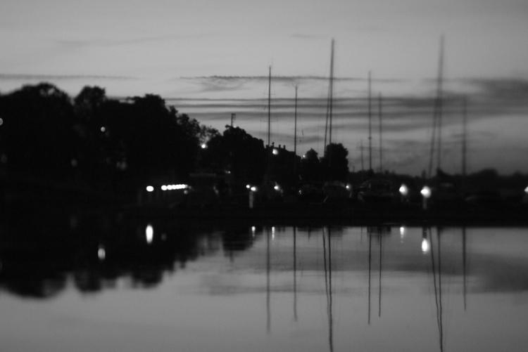river Riga Daugava dark Latvia  - reeltoreel | ello