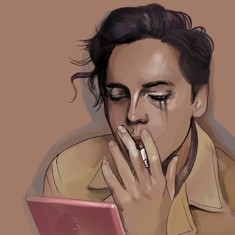Cole Sprouse Illustration drawi - fmonroyr | ello