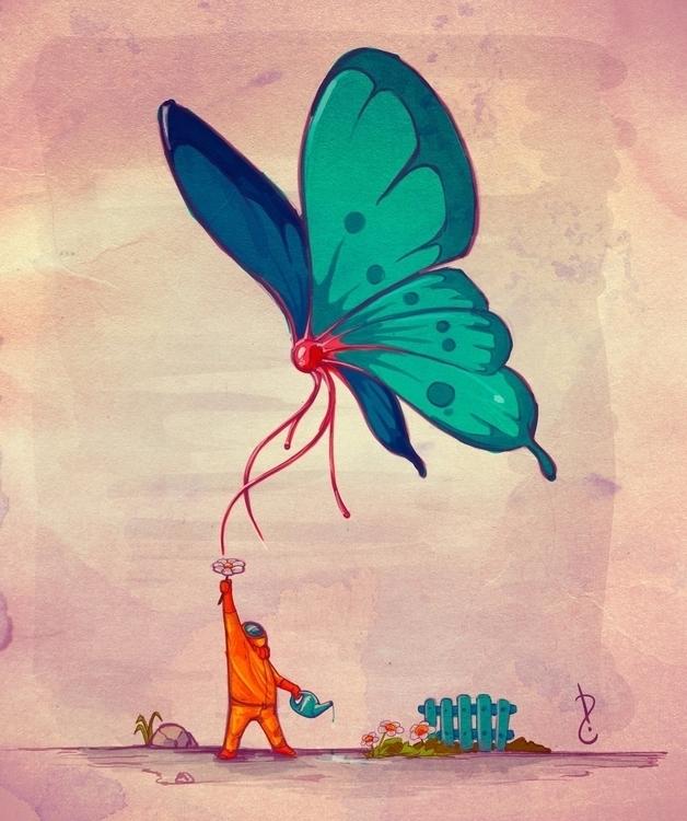 Butterfly wings. sketchbook doo - david-rivera | ello