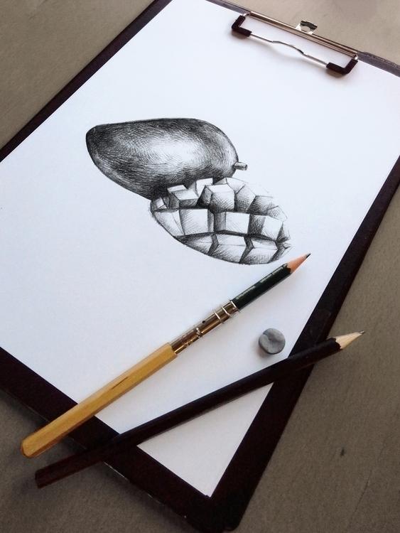 Mango illustration illustrated  - nantia   ello