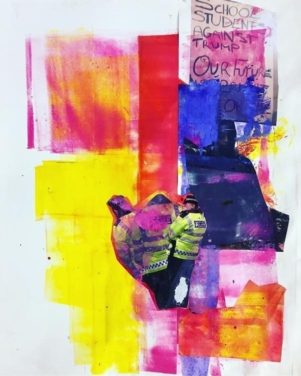 colour monoprint collage paint  - jackthelad15 | ello