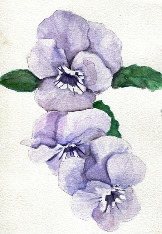 Line Watercolor Gouache Cotton  - havekat | ello