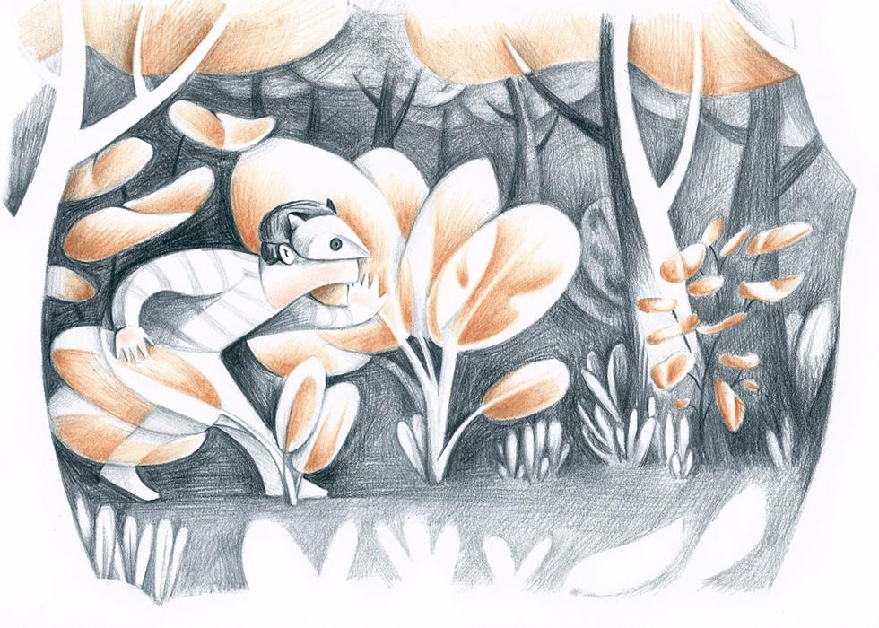 Backyard explorer illustration  - tereau | ello