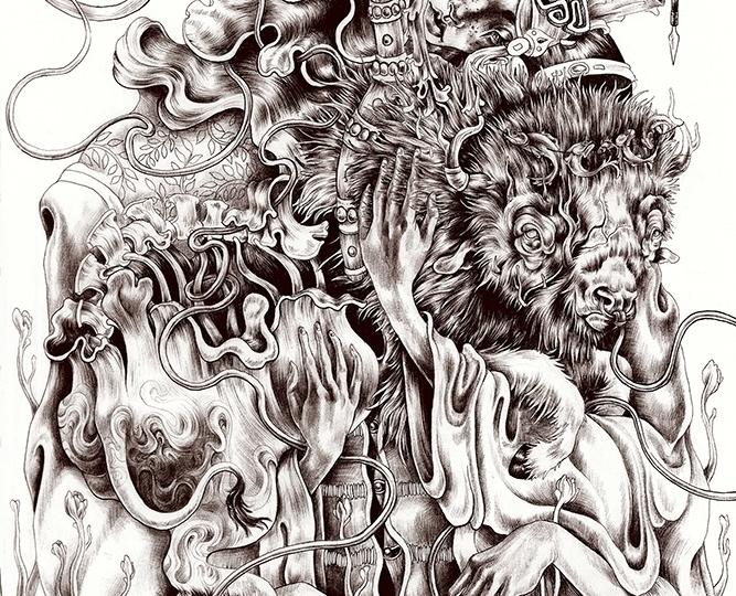 Details ballpoint pen drawings  - kitmizeresart | ello