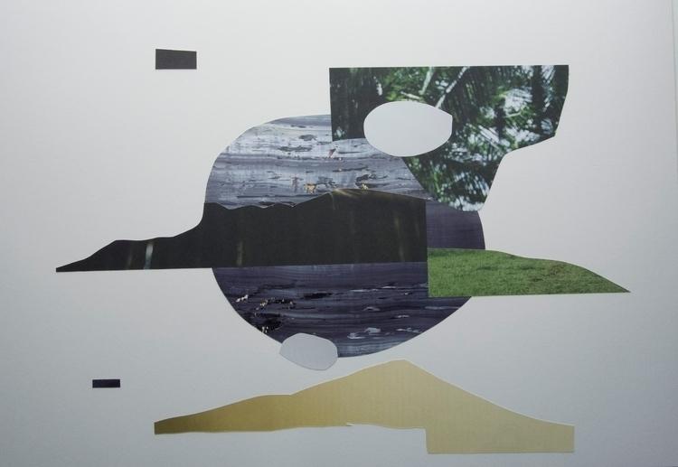 Dot eye cross Collage art abstr - wrjenkinson | ello