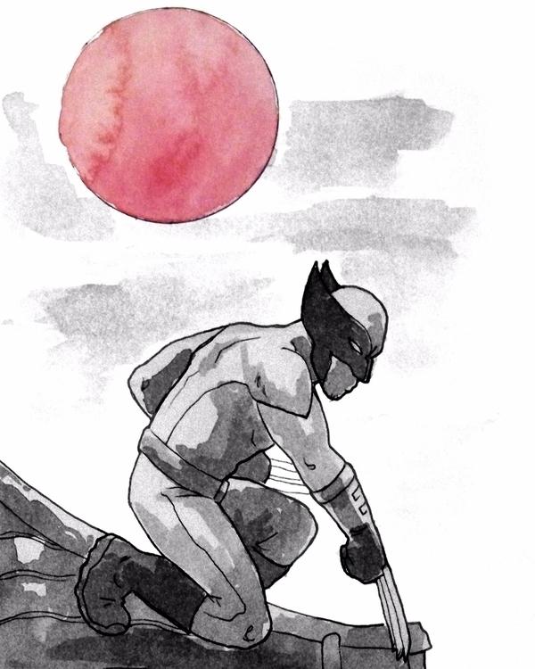 superheroes brood art ink sketc - todrawtoday | ello
