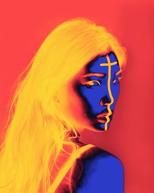 Zina digitalart abstract artdai - dorianlegret | ello